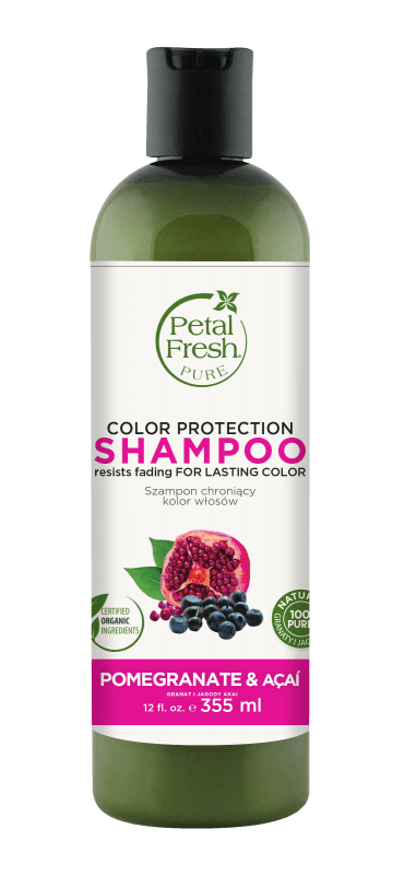 Naturalny szampon do włosów farbowanych Granat i Acai Petal Fresh Pure