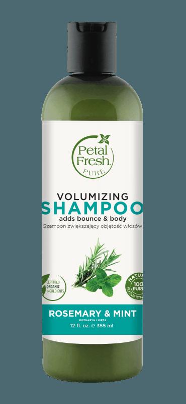 Naturalny szampon zwiększający objętość włosów Rozmaryn i mięta Petal Fresh Pure