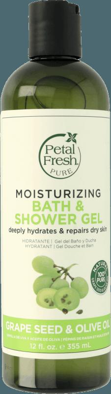 Naturalny nawilżający żel pod prysznic Pestki winogron i Oliwa z oliwek Petal Fresh Pure