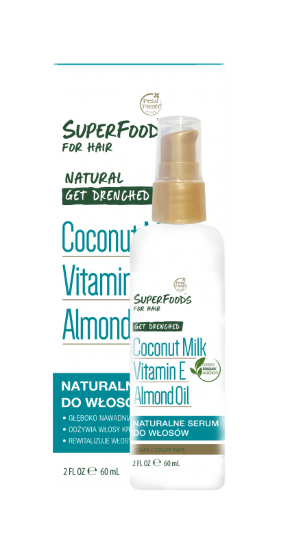Nawadniające serum do włosów z mleczkiem kokosowym Get Drenched
