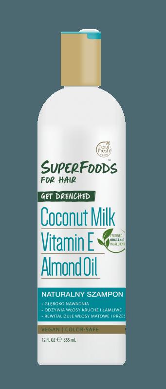 Nawadniający szampon do włosów suchych z mleczkiem kokosowym Get Drenched